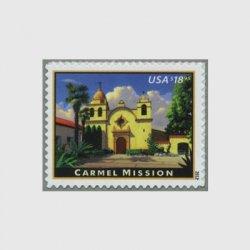 アメリカ 2012年速達切手「カーメル・ミッション」