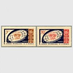 キューバ 1963年国際子供週間2種