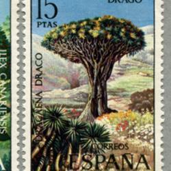 スペイン 1973年カナリア諸島の植物5種