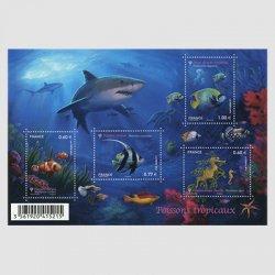 フランス 2012年自然シリーズ熱帯魚・ミニチュアシート