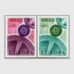 モナコ 1967年ヨーロッパ切手2種