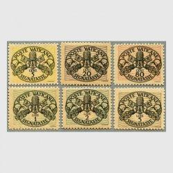 バチカン 1945年不足料切手6種