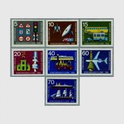 西ドイツ 1965年国際交通博覧会7種