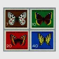 西ドイツ 1962年蝶4種