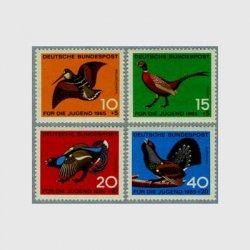 西ドイツ 1965年キツツキなど4種