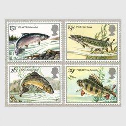 イギリス 1983年淡水魚4種