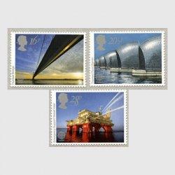 イギリス 1983年ヨーロッパ切手3種