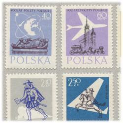 ポーランド 1958年郵便400年6種
