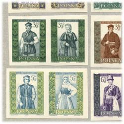 ポーランド 1959-60年民族衣装無目打20種