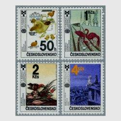 チェコスロバキア 1987年第11回子供の本のイラスト博覧会4種