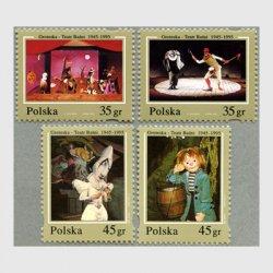 ポーランド 1995年Groteska劇場50年4種