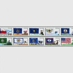 アメリカ 2012年6次旗セルフ糊コイル10種連刷