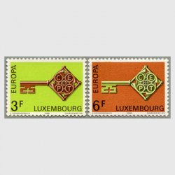 ルクセンブルグ 1968年ヨーロッパ切手2種