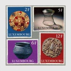 ルクセンブルグ 1976年フランク王国メロビング朝の遺産4種