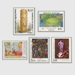 フランス 1984年美術切手5種