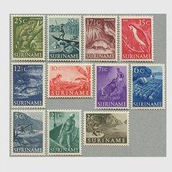 スリナム 1953-5年生活、生物11種