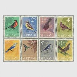 スリナム 1966年鳥8種