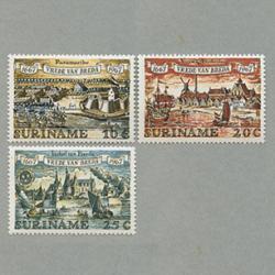スリナム 1967年ブレダ条約300年3種