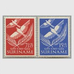 スリナム 1955年オランダからの解放10年2種