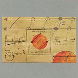 南アフリカ 2012年金星の太陽面通過小型シート