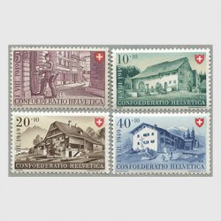 スイス 1949年バスレの農家など4種