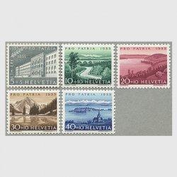 スイス 1955年サリネ河など5種