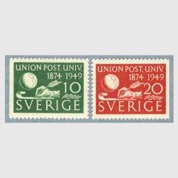 スウェーデン 1949年UPU75年2種