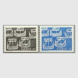 スウェーデン 1969年5隻の古代船2種