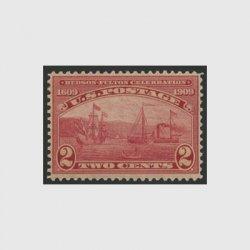 アメリカ 1909年ハドソンフルトン・目打12