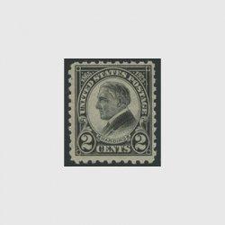 アメリカ 1923年ハーディング大統領哀悼・目打10