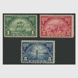 アメリカ 1924年ユグノー・ワルーン300年3種
