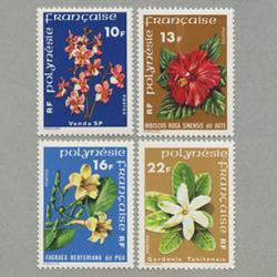 フランス領ポリネシア 1978-78年花4種