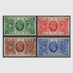 イギリス 1935年ジョージ5世在位25年4種