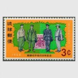 沖縄 1968年切手発行20年