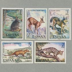 スペイン 1972年カワネズミなど5種