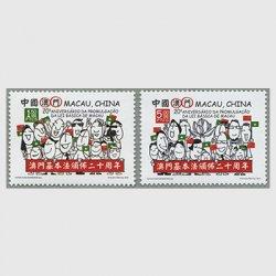 中国マカオ 2013年マカオ基本法公布20年2種