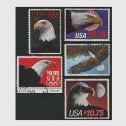 アメリカ高額切手使用済5種セット