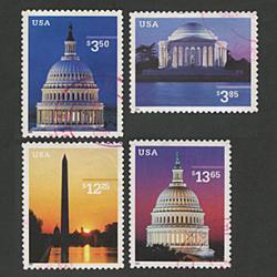 アメリカ高額切手使用済4種セット