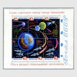 ソ連 1964年宇宙開発小型シート