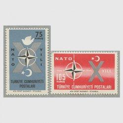 トルコ 1962年NATO加盟10年2種
