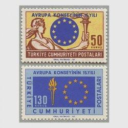 トルコ 1964年ヨーロッパ評議会15年2種