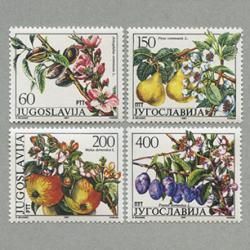 ユーゴスラビア 1987年果樹木4種