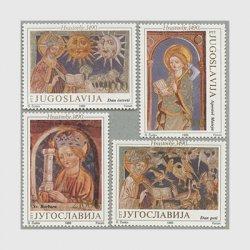 ユーゴスラビア 1989年宗教画4種