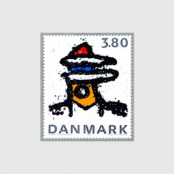 デンマーク 1985年鉄の彫刻の抽象画