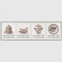 デンマーク 1990年磁器フローラダニカ4種
