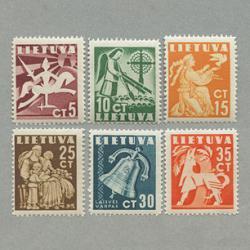 リトアニア 1940年白馬の騎士など6種