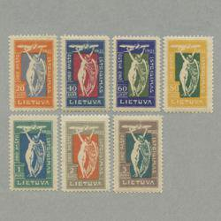 リトアニア 1921年エアメール開始7種