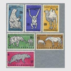 チェコスロバキア 1962年動物園の動物6種