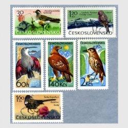 チェコスロバキア 1965年山鳥6種