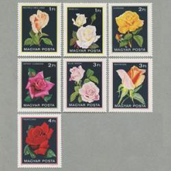 ハンガリー 1982年バラ7種
